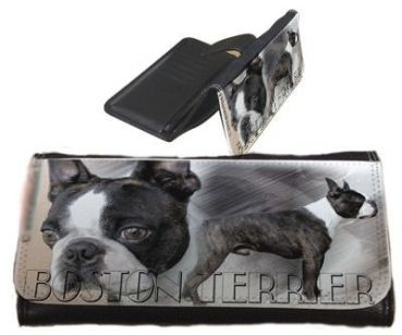 Frauen Geldbörse Brieftasche Boston Terrier